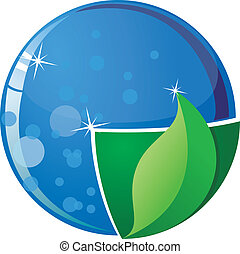 Vector image of the globe