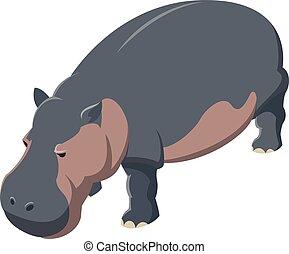 Hippo isometric icon