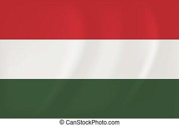 Hungary waving flag