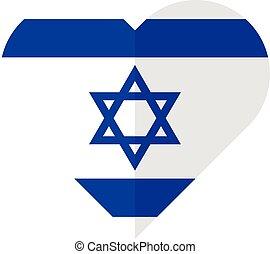 Isarael flat heart flag