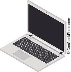 Isometric icon of a Laptop