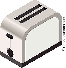 Isometric icon of a toaster