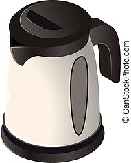Isometric icon of an electric kettle