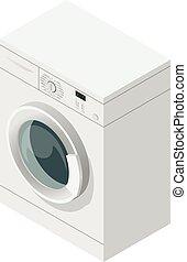 Isometric icon of washing machine