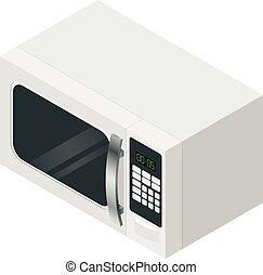 Isometric microwave icon