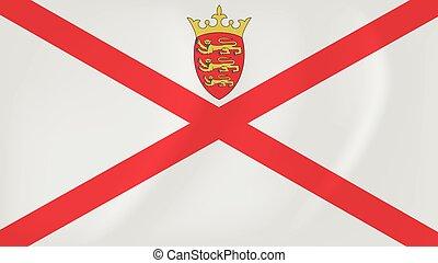 Jersey waving flag