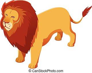 Lion isometric icon