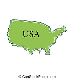 Vector image of the Map USA