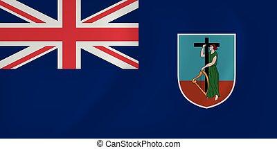 Montserrat waving flag