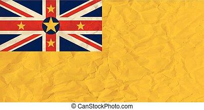Niue paper flag