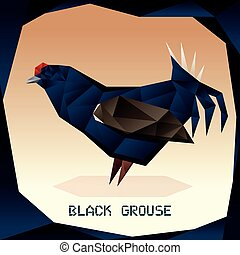 Origami Black Grouse