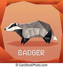 Origami grey Badger