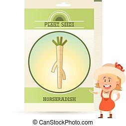 Pack of Horseradish seeds icon