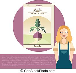 Pack of Swede seeds - Vector image of the Pack of Swede ...
