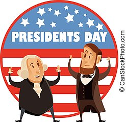 Presidents day banner - Vector image of the Presidents day...