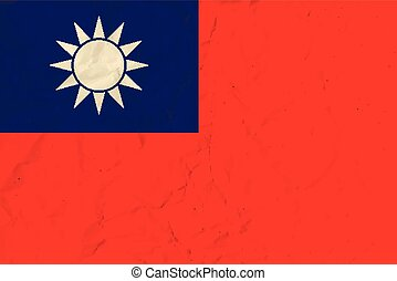 Republic of China paper flag - Vector image of the Republic ...