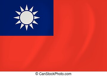 Republic of China waving flag - Vector image of the Republic...