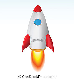The Rocket Taking Off - Vector Image Of The Rocket Taking...