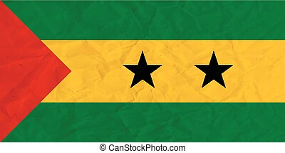 Sao Tome and Principe paper  flag