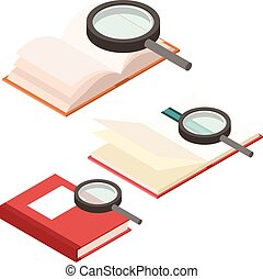 Search in book icons