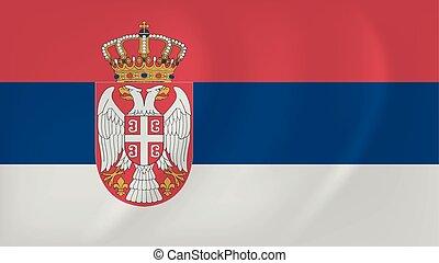 Serbia waving flag