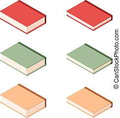 Set of books isometric icons2