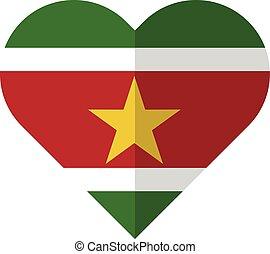 Surinam flat waving flag