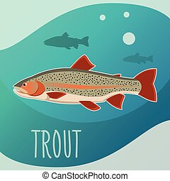 Trout fish banner