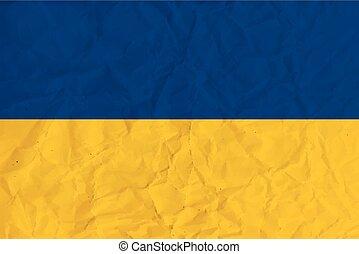 Ukraine paper flag
