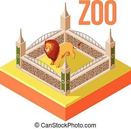 Zoo Lion isometric icon
