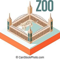 Zoo Snow Leopard isometric icon