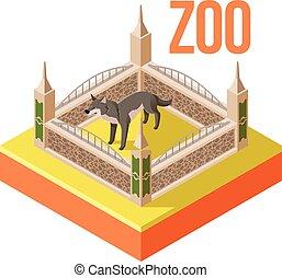 Zoo Wolf isometric icon