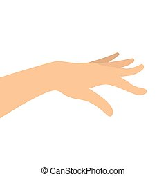 Vector image of woman hand