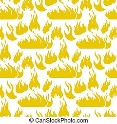Vector image Pattern Set Fire Flame Silhouettes. Set Vector ...