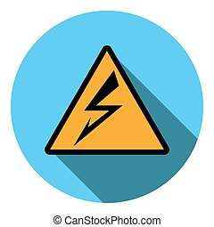 Vector image sign attention electricity