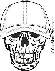 skull in baseball cap - Vector image skull in baseball cap