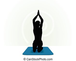 Yoga pose isolated on white background