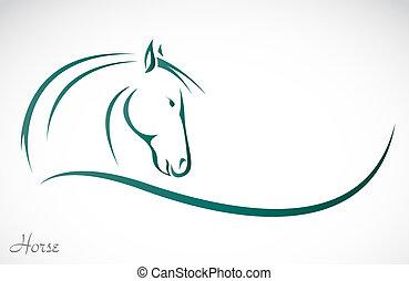 vector, imagen, de, un, caballo