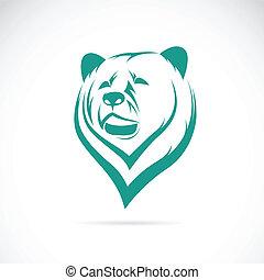 vector, imagen, de, un, oso, cabeza