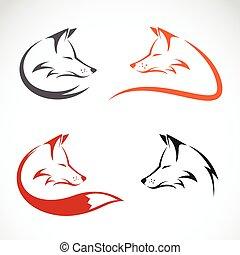 vector, imagen, de, un, zorro, diseño