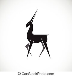 Vector images of deer design on a white background.