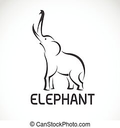 Vector images of elephant design on a white background.
