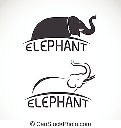 Vector images of elephant design on a white background, Vector elephant for your design.