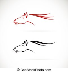 Vector images of horse head design on a white background, Horse Logo, Horse Tattoo, Vector horse head for your design.