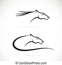 Vector images of horse head design on a white background