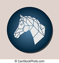 Vector images of horse head