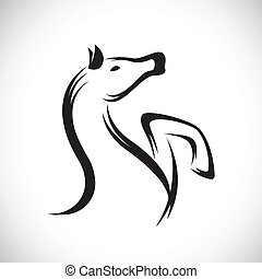 Vector images of horse on a white background.