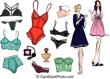 Vector images of lingerie