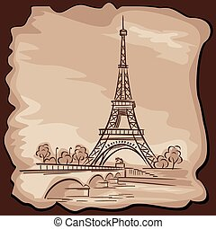 Eiffel tower - vector images of Paris Eiffel tower in...