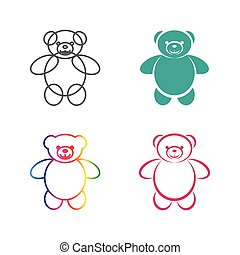 Vector images of teddy bear on a white background., Vector teddy bear for your design.